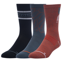 Under Armour 3 Pack Phenom Novelty Crew Socks - Men's - Red