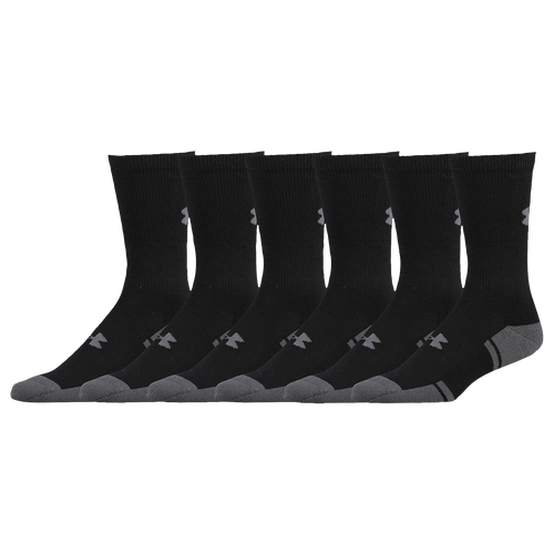Under Armour Resistor 3.0 6 Pack Crew Socks   Menu0027s   Training    Accessories   Black/Graphite