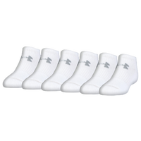 Under Armour Charge Cotton 2.0 6 Pack No show Socks - Men's - White / Grey