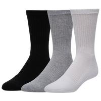 Under Armour Charge Cotton 2.0 6 Pack Crew Socks - Men's - Grey / Black