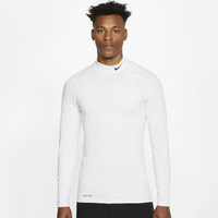 Nike Pro Warm Compression L/S Mock - Men's - White