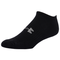 Under Armour 6 Pack Cotton Training No Show Socks - Men's - All Black / Black