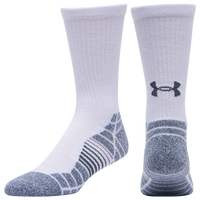 Under Armour 3 Pack Elevated Performance Crew Socks - Men's - White