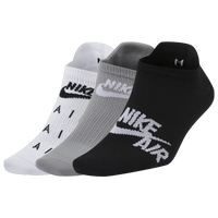 Nike Air Everyday Plus Low Cut 3pk - Women's - Black / Grey