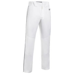 Under Armour Team Piped Icon Baseball Pants - Men's - White/Black