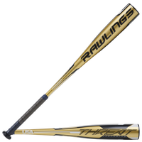 Rawlings Threat Youth USA Baseball Bat - Grade School - Gold / Black