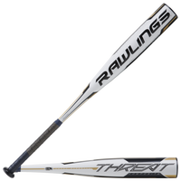 Rawlings Threat USSSA Bat - Grade School - White / Black
