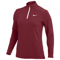 Nike Team Authentic 1/2 Zip Top - Women's - Maroon
