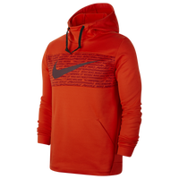 Nike Therma Fleece Graphic Swoosh Block Hoodie - Men's - Orange