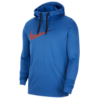 Nike Therma Fleece Graphic Swoosh Hoodie - Men's - Blue