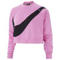 Nike Swoosh Fleece Crew - Women's - Pink