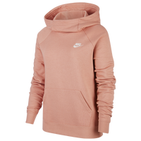 Nike Essential Funnel Neck P/O Hoodie - Women's - Pink