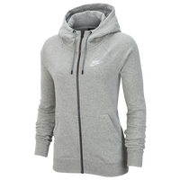 Nike Essential Full-Zip Fleece Hoodie - Women's - Grey