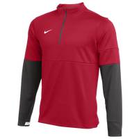 Nike Team Authentic Therma 1/2 Zip Top - Men's - Red / Black
