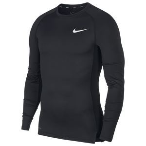 Nike Pro Compression Long Sleeve Top - Men's - Black/White