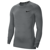 Nike Pro Compression Long Sleeve Top - Men's - Grey