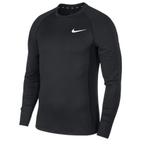 Nike Pro Fitted Long Sleeve Top - Men's - Black