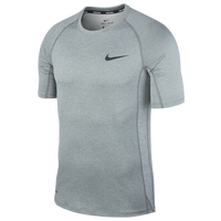 Nike Pro Fitted Football T-Shirt - Men's - Grey