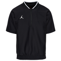 Jordan Team Lightweight Short Sleeve Coach Jacket - Men's - Black