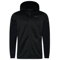 Nike Therma Fleece Plus Full Zip Hoodie - Men's - Black / Grey