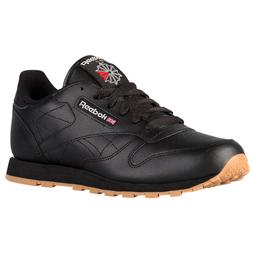 a74251d43cd Reebok Classic Leather - Boys  Grade School - Casual - Shoes - Black Gum