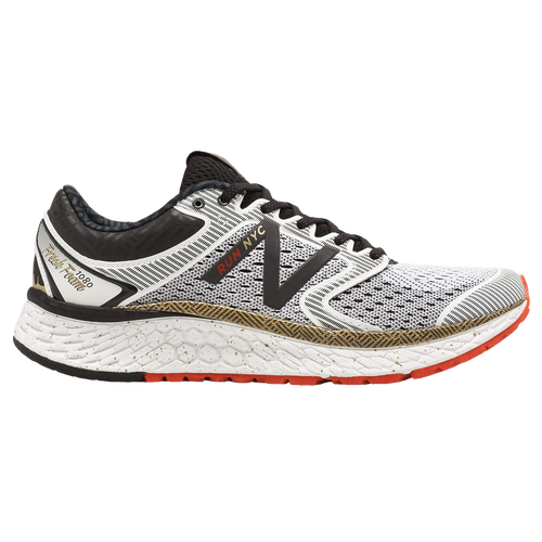 New Balance Fresh Foam 1080 V7 - Women's Running Shoes - White/White/Gold W1080NK7