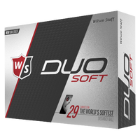 Wilson Staff Duo Soft Golf Balls - Men's - White / Black
