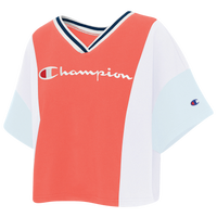Champion Colorblock Crop T-Shirt - Women's - Pink
