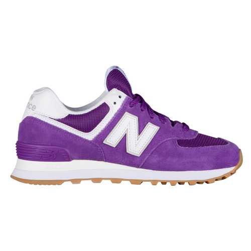 get cheap cc892 a55ce New Balance 574 Classic - Women s - Casual - Shoes - Purple Mountain White