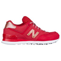 new balance shoes red. new balance 574 - women\u0027s red / gold shoes