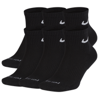 Nike 6 Pack Dri-FIT Plus Quarter Socks - Men's - Black