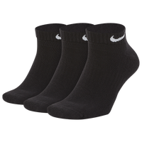 Nike 3 Pack Dri-FIT Cotton Low Cut Socks - Men's - Black