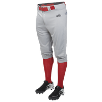 Rawlings Launch Solid Knicker Baseball Pants - Youth - Grey