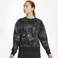 Nike NSW ICN CLSH Fleece AOP Top - Women's - Black